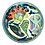 Thumbnail: Pru Green -  Small Footed Dish Mollusc and Fish Design