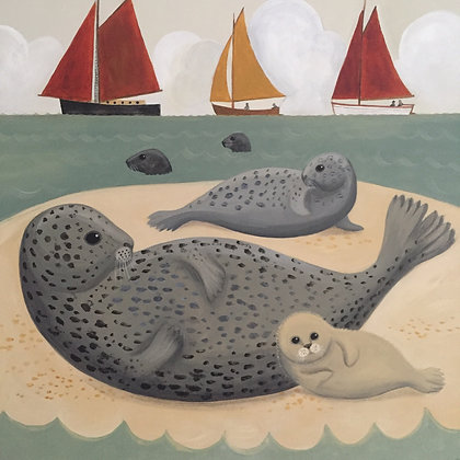 Catriona Hall - Seals and Sails at Blakeney