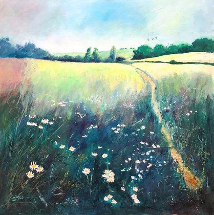 Spring Meadow - Sue Walker - Original Painting