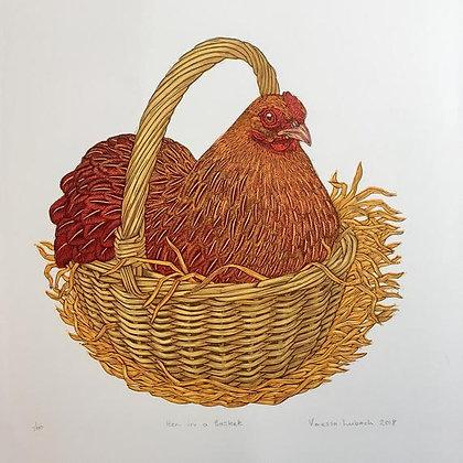Hen in a Basket - Vanessa Lubach