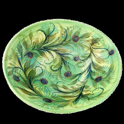 Pru Green - Large Bowl Bottlebrush Flower Design