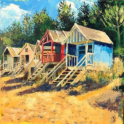Geri Jones - Norfolk Beach huts, Wells-by-the-sea