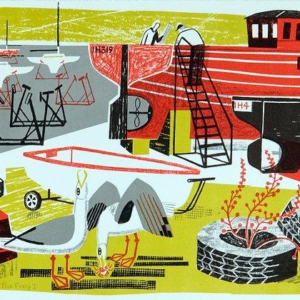 Ferry I - Clare Curtis Original Lithograph