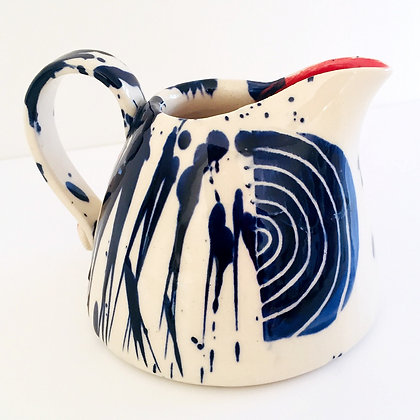 Simon Sharp Pottery -  Abstract Decorated Small Jug