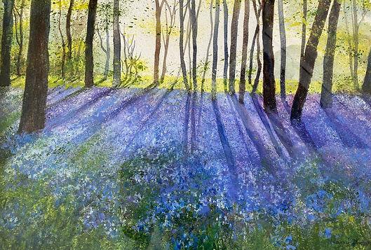Marion Shave-Bluebells-Watercolour-Churc