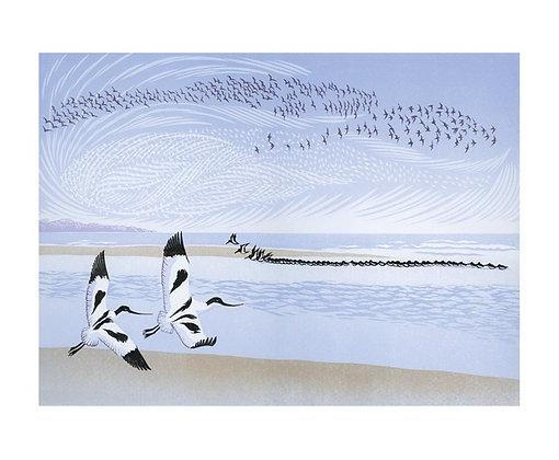 Niki Bowers - Art Angels Printmakers Card - Tide Rising