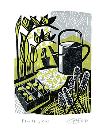 Clare Curtis - Gardening - Planting Out - Card by Art Angels