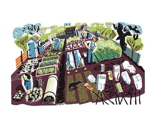 Clare Curtis - May Day Allotment - Single Card published by Art Angels