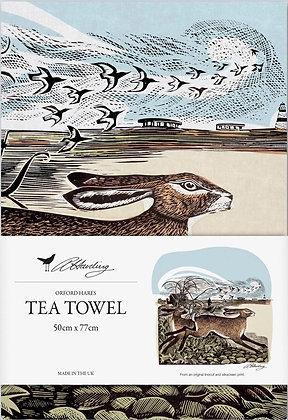 Angela Harding - Orford Hares - Printed Tea Towel