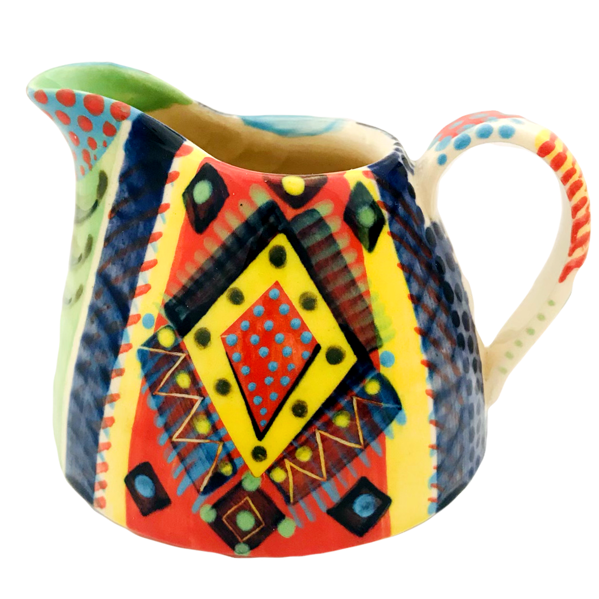 Pru Green-Jug-Colourful-Pottery-Church S