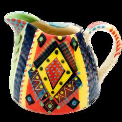 Pru Green-Jug-Colourful-Pottery-Church S