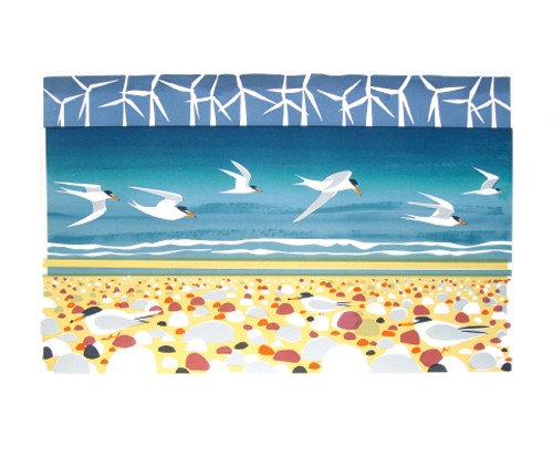 Carry Akroyd - Big Turns Little Terns - Art Angels Card