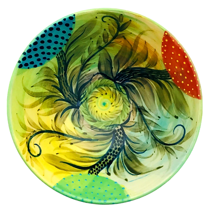 Pru Green Pottery - Colourful Small Bowl