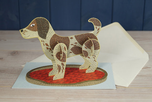 Dog - Pop Out 3D Card by Alice Melvin