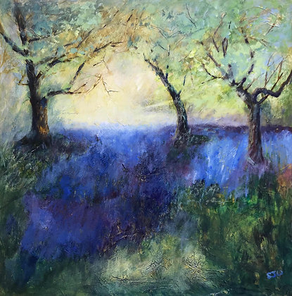 Bluebell Time - Original Painting by Sue Walker