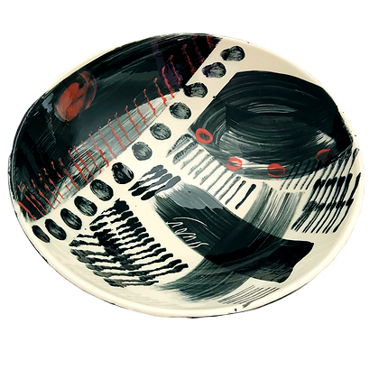 Simon Sharp Pottery - Bowl Abstract Design