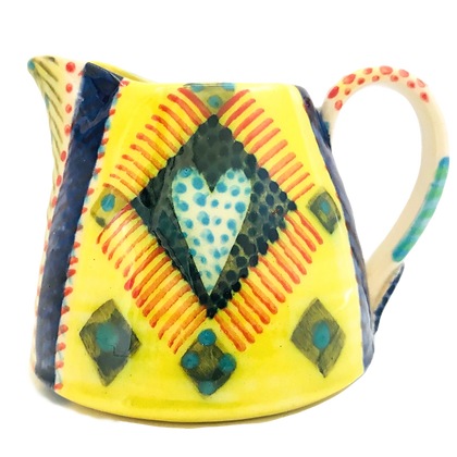 Pru Green Pottery - Bright and Colourful Small Can Jug