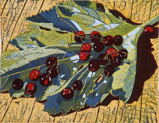 Ivy Smith - Cherries on a Leaf