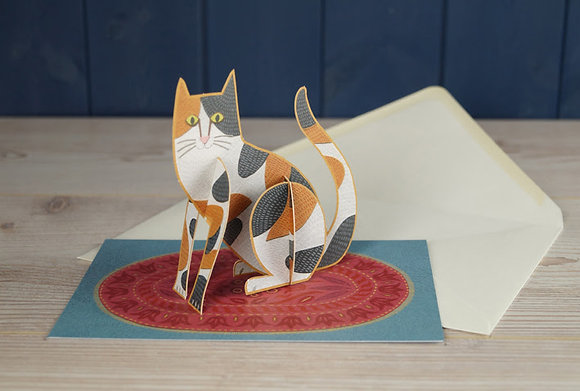 Cat - Pop Out 3D Card by Alice Melvin