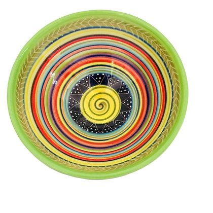 Pru Green -  Saturn Design Colourful Bowl