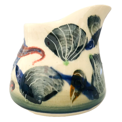 Pru Green - Mini Jug Hand Decorated with Shell and Fish