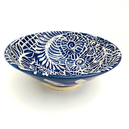 Pru Green - Small Dish - Blue and White