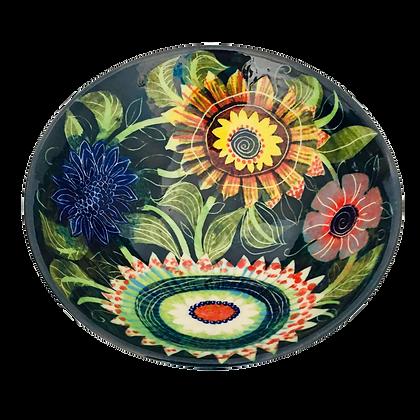 Ceramics by Pru Green - Floral Colourful Bowl