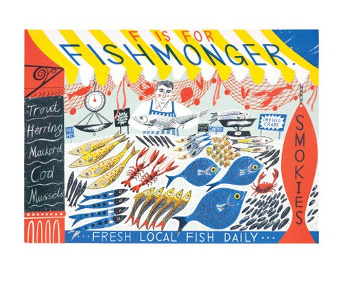 Emily Sutton - F is for Fishmonger - Single Card