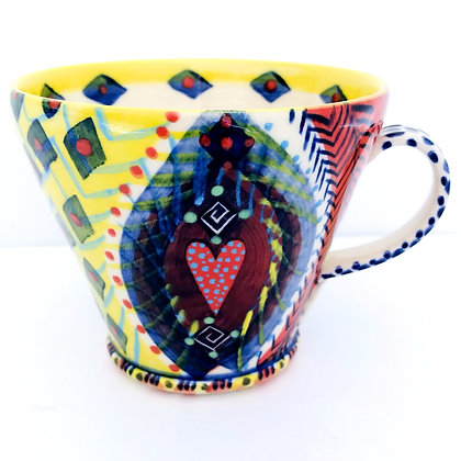 Pru Green Pottery - Mug - Bright Colourful - Unique