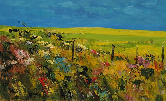 Debbie Scott - Rapeseed and Hedgerow