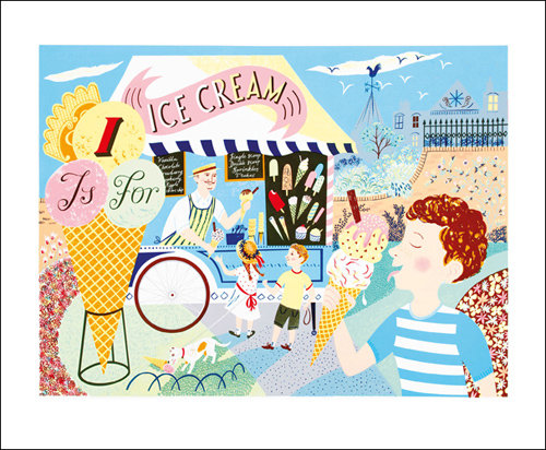 Emily Sutton - I is for Icecream - Printmakers Card by Art Angels