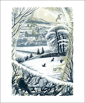 Between Snow Showers a Winter Printmakers Cards from Art Angels