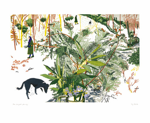 Winter Dog Walk - Ivy Smith - Printmakers Cards