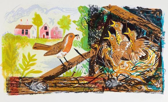Mark Hearld - Robin's Nest - Curwen Print