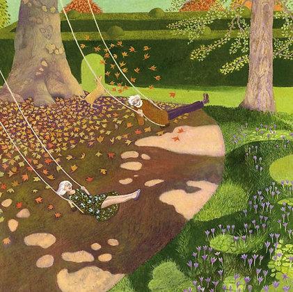 The Joys of Being Older - Fine Art Greetings Card by Ellie Ling