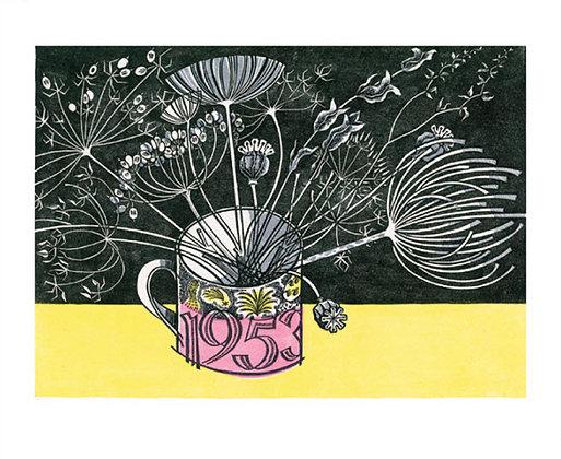 Angie Lewin Coronation mug Art Angels Cards