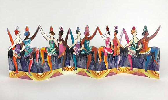 Cabaret Dancers - Die Cut Card of Dancers - Art Angels
