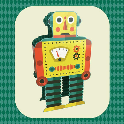 Robot - Die cut 3D card by Tom Frost- Art Angels