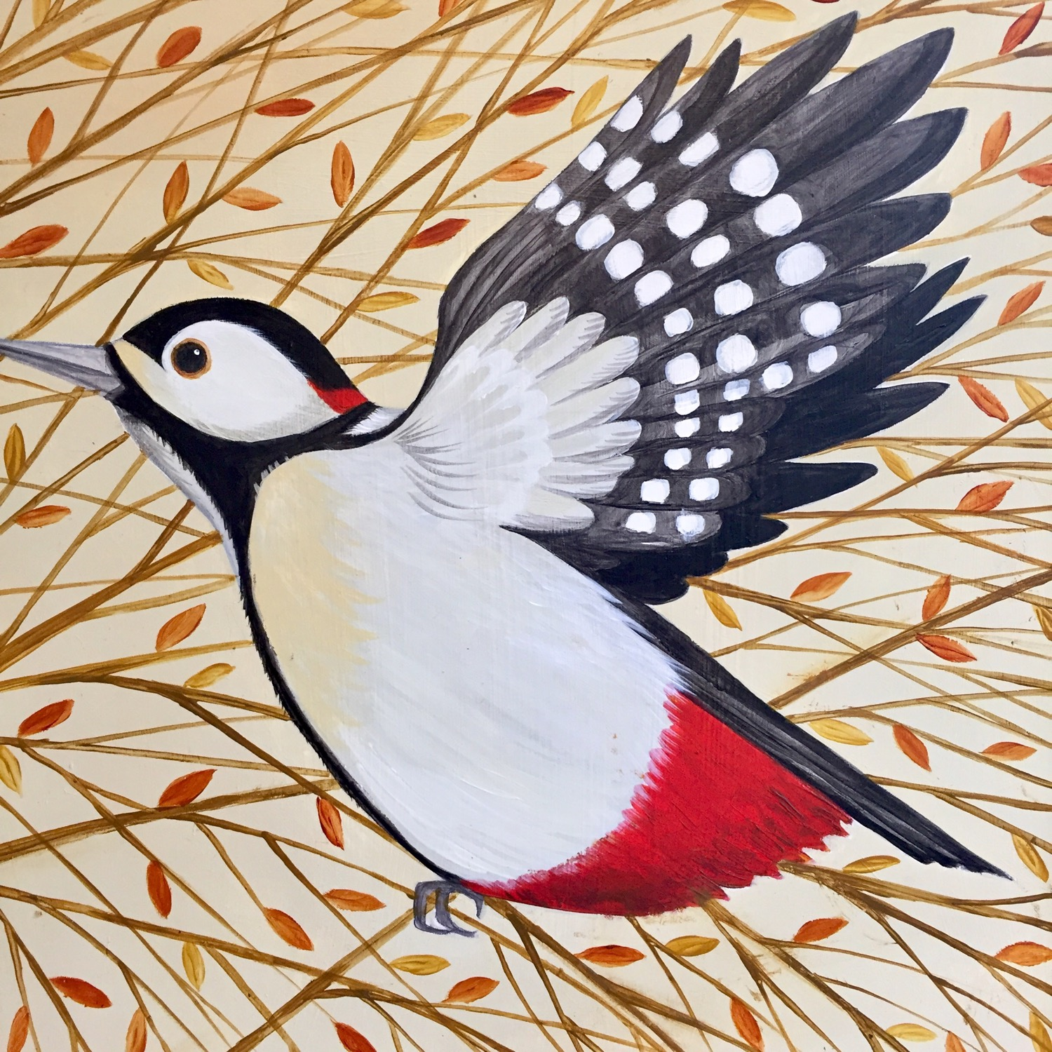 Catriona Hall-Woodpecker-Flying