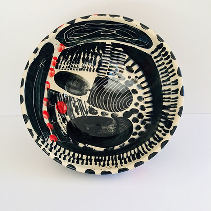 Simon Sharp Ceramics -  Contemporary Decorated Bowl 27 cm