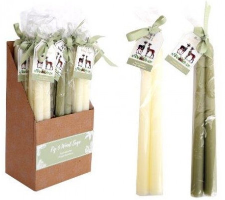 Fig and Wood Sage Scented Taper Candles