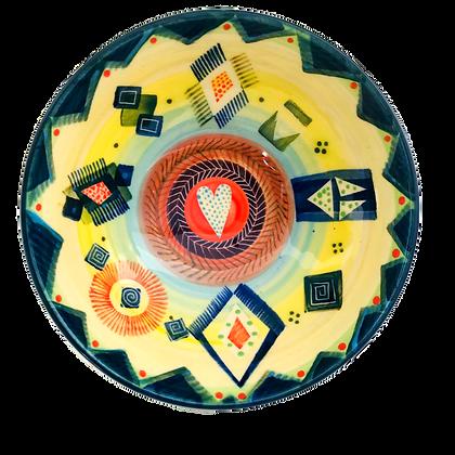 Pru Green Pottery - Bright Colourful Ceramic Bowl