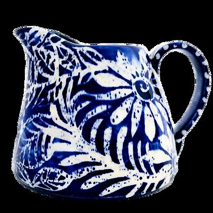 Pru Green Pottery - Small Jug Batik Floral Design