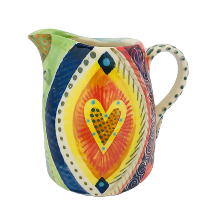 Pru Green - Colourful Decorated Classic Jug