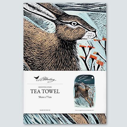 Angela Harding - Tea Towel - Hares - Shooting Stars - Printed in UK