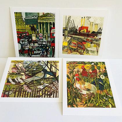 Rupert Shepherd - Printmakers Card Collection 4 x Art Angels Cards