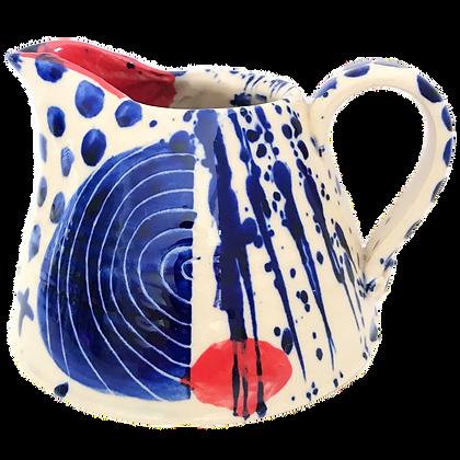 Simon Sharp Pottery - Large Abstract Can Jug