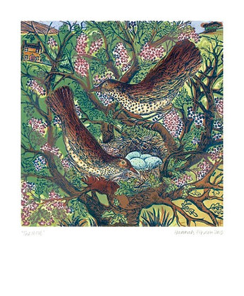 The Nest - Linocut - Hannah Firmin Fine Art Card