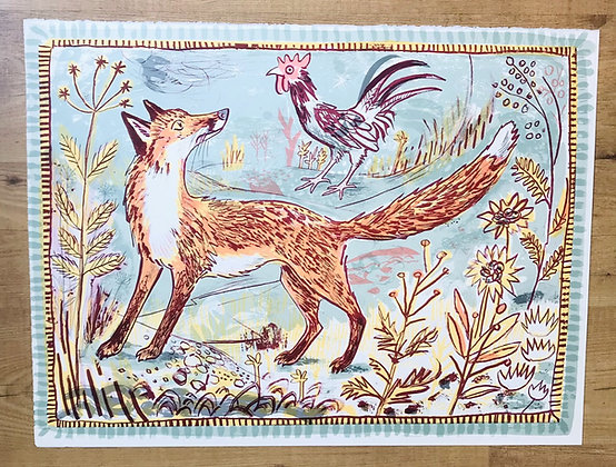 Mark Hearld - Fox - Curwen Lithograph