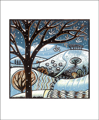 Diana Croft - Snow on the Hills- Art Angels Winter Printmakers Cards